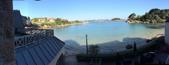 Hotel Saint Guirec et de la Plage : De mon balcon au réveil
