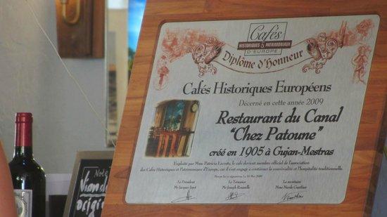 """Gujan-Mestras, Frankreich: Restaurant du Canal """"Chez Patoune"""""""