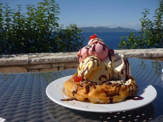 Special Waffle @ Esperides Resort Hotel! Very highly recommended!