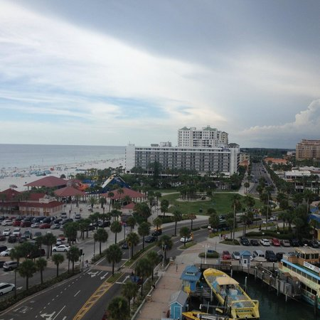 Hilton Clearwater Beach Resort & Spa: A view I captured from another hotel we scouted out; Pier House 60 Marina Hotel