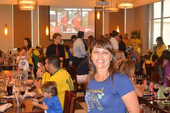 Gilson's Brazillian Restaurant: Antes do jogo