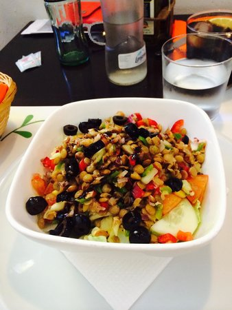 Vegetarian El Calafate: Ensalada de lentejas y pipirrana