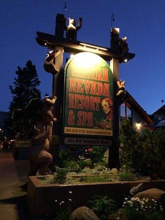 Sierra Nevada Resort & Spa : het enige leuke aan dit hotel was het bord