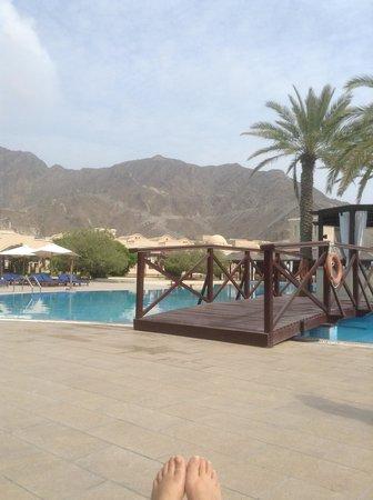 Miramar Al Aqah Beach Resort: View from my Lounger