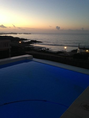 Paternoster Cottages: night time view from a different angle