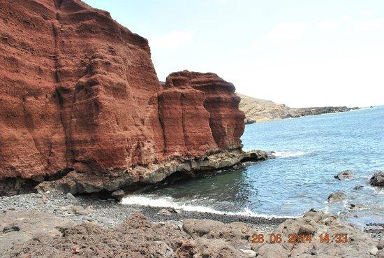 El Lago Verde: czerwone formacje skalne