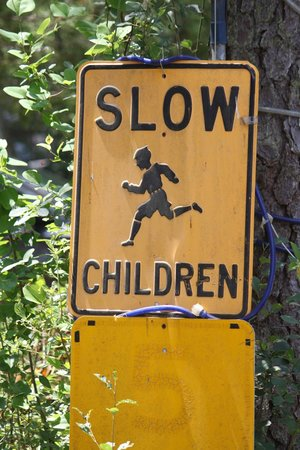 Timberline Lake Camping Resort: Funny sign: They better learn to run faster.