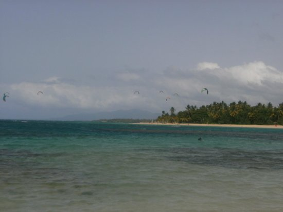 Grand Bahia Principe El Portillo : kitsurfers from next bay up