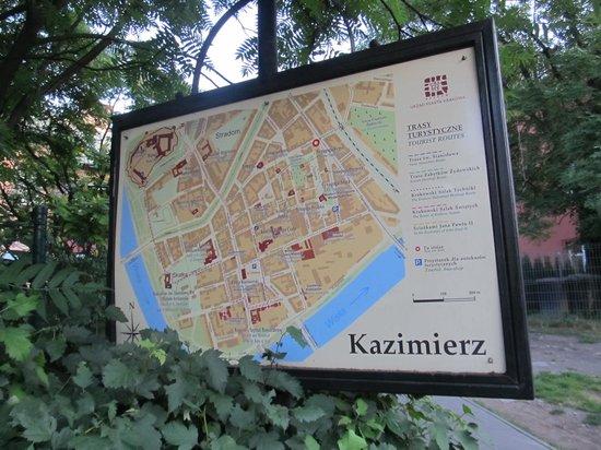 Jewish District (Kazimierz): Kazimierz map.