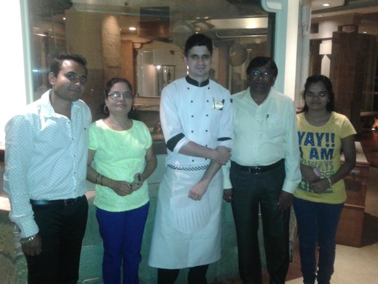 K & K : With Chef Gaurav and my family