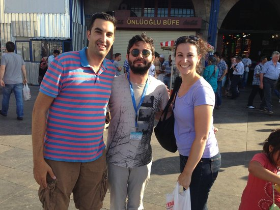 Real Istanbul Tours: With Oz after our great tour (Oz is in the middle)