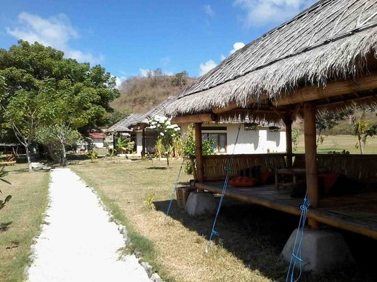 Pearl Beach Resort : cottages and way to restaurant
