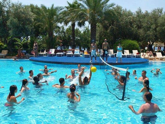 Latanya Park Resort: Водные игры. Организовали аниматоры.