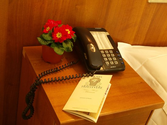 Hotel Trastevere : Telefono in camera