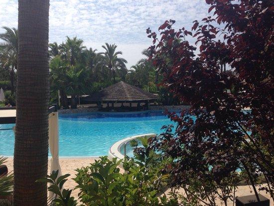 Protur Biomar Gran Hotel & Spa: Foto de la piscina desde la boutique