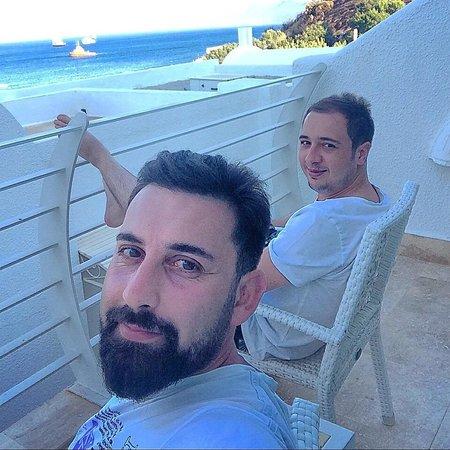Voyage Bodrum: Deniz tarafı odanın balkonu...