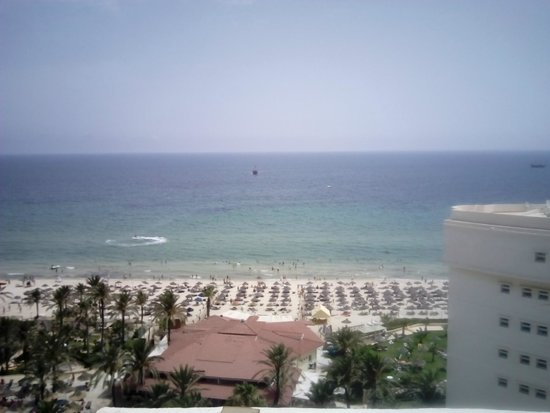 Riadh Palms Hotel: Beach from 10th Floor