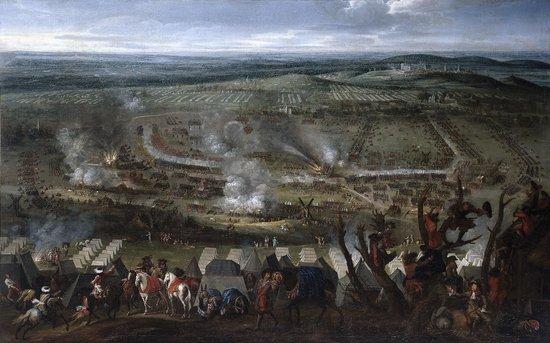 Maison de la Bataille de la Peene : Tableau de la bataille de 1677 - entourage Snayers - Photo JQ d'Henripret
