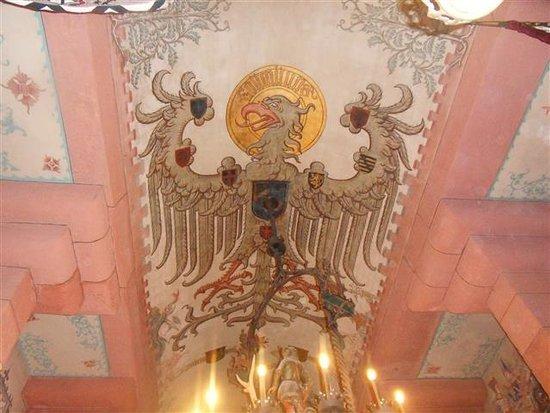 Chateau du Haut-Koenigsbourg: le plafond de la salle de réception