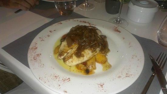 Restaurante Marisco: Filete de gallo con cebolla confitada