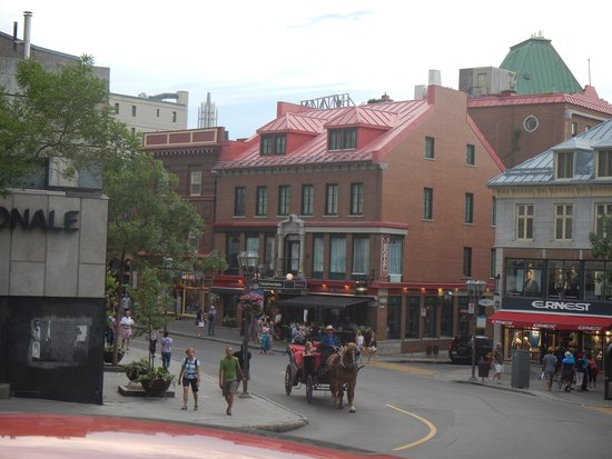 Hotel du Vieux-Quebec: view of hotel (with red roof)