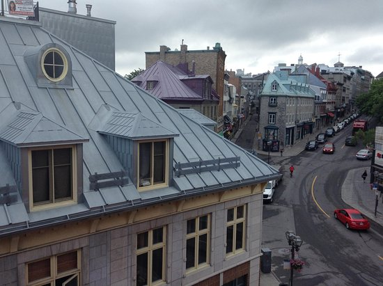 Hotel du Vieux-Quebec: view from one of the windows Room 310
