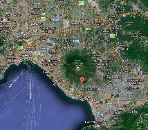 Cantina del Vesuvio: Location