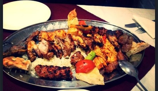 Romford, UK : Mixed grill platter for two