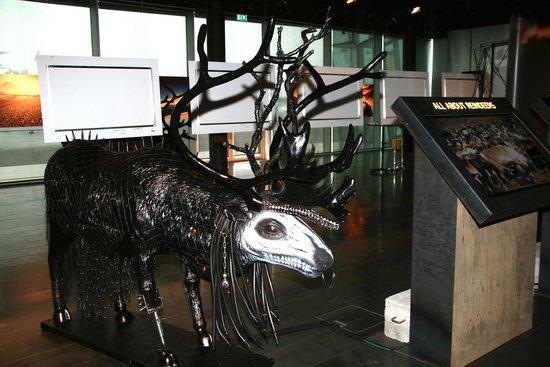 Reikiavik, Islandia: Reindeer sculpture from the Icelandic hair and make up artist Ásgeir Hjartarson called Hellraise