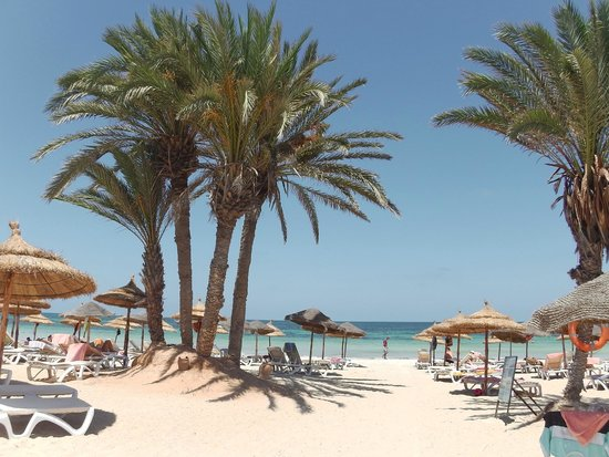 Hotel & Club Lella Meriam : Praia hotel Lella Meriam