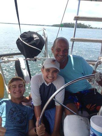 Anna Maria Sailing Adventures: Captain Octavio and my kids