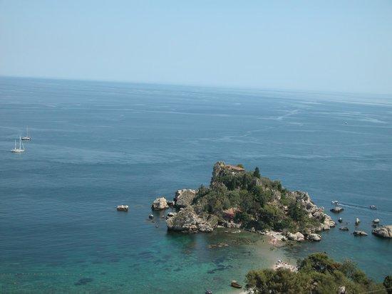 Residence Terra Rossa: Vista dal solarium Isola Bella