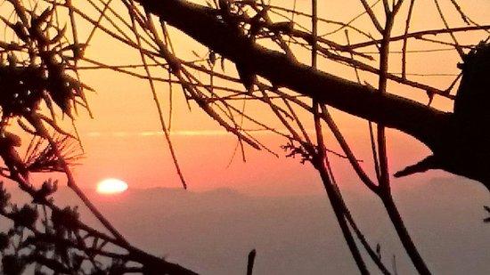 Santorini Mou: Coucher de soleil depuis la terrasse