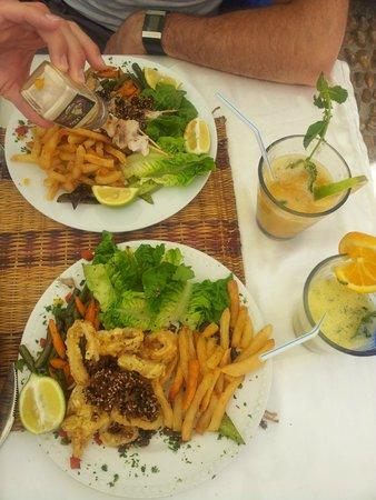 Au Bonheur des Dames : Plat gras et odorants.... avec cocktails des îles... acides !