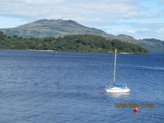 Lodge on Loch Lomond: view from room 4