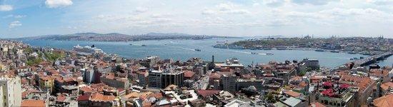 Bosphorus Strait: panorama from Galeta tower, Istanbul