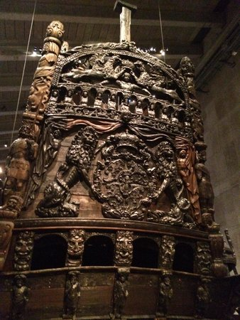 Vasa Museum: Back of ship