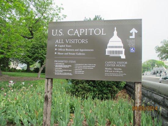 U.S. Capitol: A l'usage des visiteurs