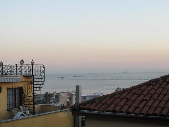 Rumours Inn : Blick vom Einzelzimmer auf's Meer