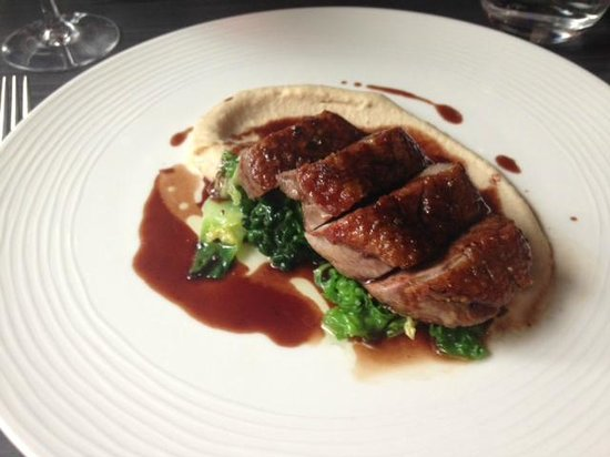 Brigade Bar & Bistro: Duck breast with white bean puree