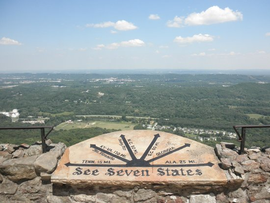 Raccoon Mountain RV Park and Campground: View from Rock City
