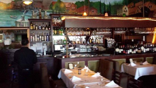 Interior of La Collina restaurant.