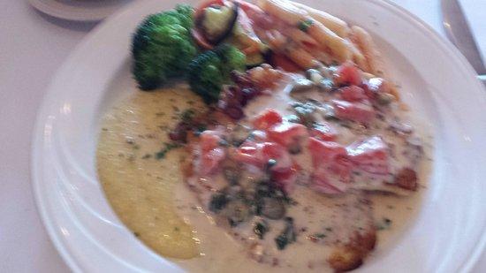 LA Collina : Calamari Doro (Calamari steak, with capers and vegetables)