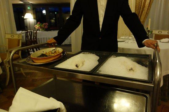 Hotel Villa Franceschi : gnocchi and salted sea bass