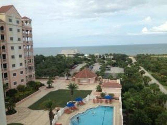 Hammock Beach Resort: View from 6th floor, Better view of the ocean