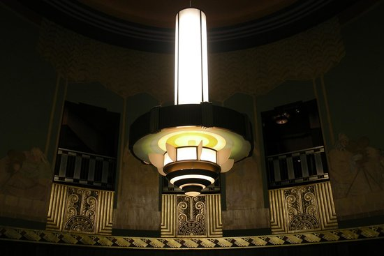 Restored mural and recreated lighting fixture in our rotunda lobby