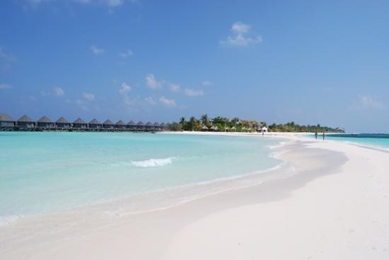 Kuredu Island Resort & Spa: Kuredu from the sand spit