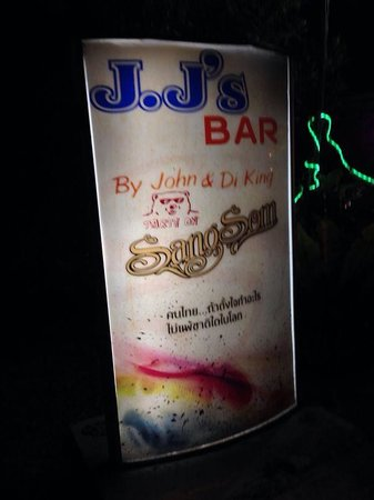 JJ's Bar & Food : JJ sign