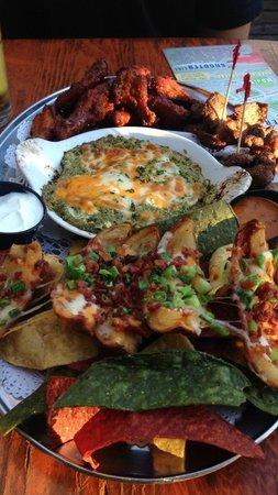 Flying Beaver Bar & Grill : The Beaver Damn plate!