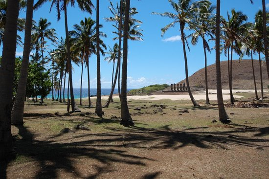 Anakena Beach : To the neach from parking